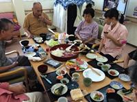 手巻き寿司は好評でした。